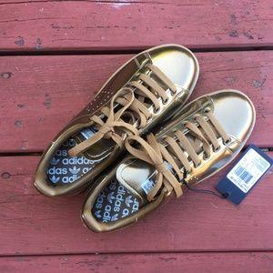 NWT Gold Adidas x Raf Simons Stan Smiths